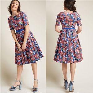 ModCloth Blue Floral Dress